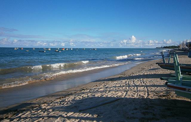 Passeio pela praia / jangadas