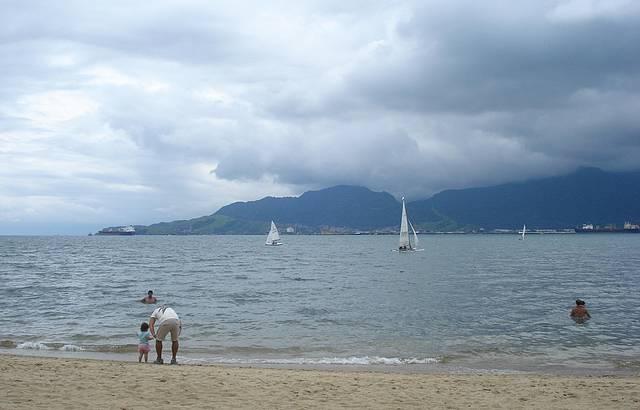 Praia bem legal