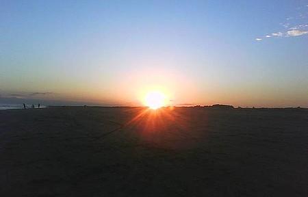 Praia do Cassino - Pôr do Sol na Beira da Praia