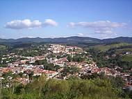 Vista panorâmica da cidade, observada do Cruzeiro de Cabreuva