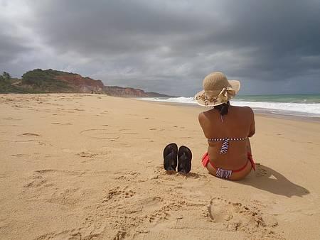 Praia do Gunga - Falésias e Tranquilidade