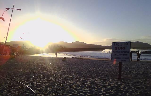 Inverno, proibido esportes aquáticos,pesca da Tainha!!