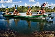 Embarcações são usadas para pesca e passeios