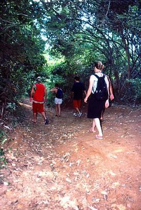 Caminhada é a melhor forma para apreciar a naturzea