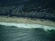 Vista panorâmica das belas praias do Rio.