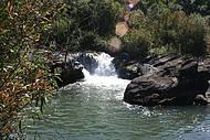 Vista parcial da cachoeira
