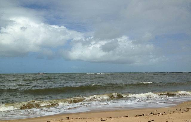 A praia e eu...