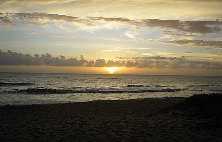 Praia de Alcobaça - Fim do dia reserva belo espetáculo