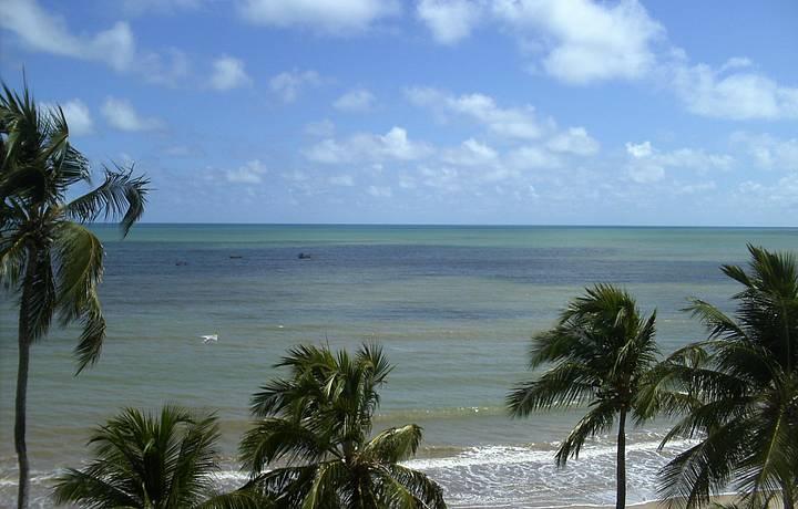 Vista do hotel em que ficamos em Cabo Branco