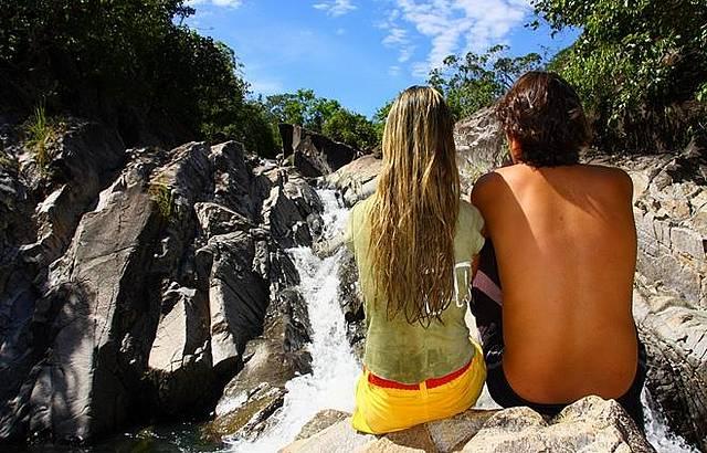 Banhos refrescantes depois da trilha