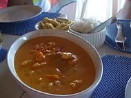Peixe ao molho de camarão, muito bom!!!