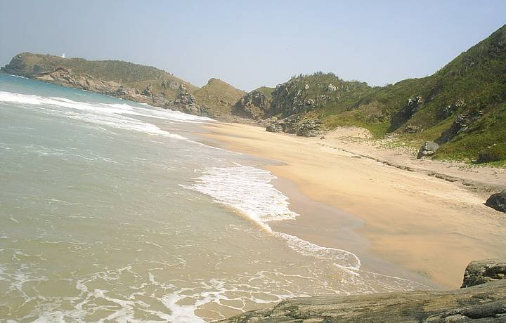 Uma linda praia.