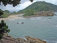 Vista da trilha para a praia do Cachadaço