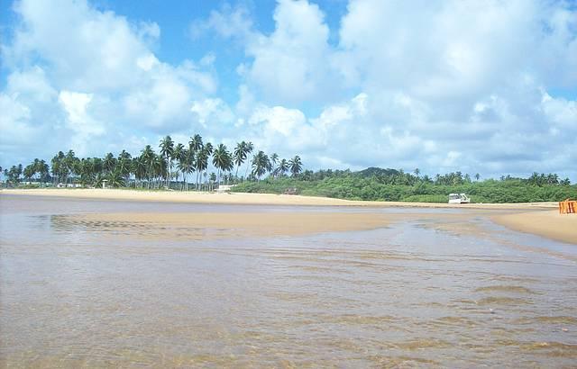 O rio encontrando o mar!!