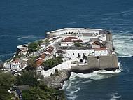Belo visual da Fortaleza de Santa Cruz