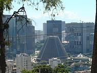 Vista do Centro da cidade, com destaque para a Catedral
