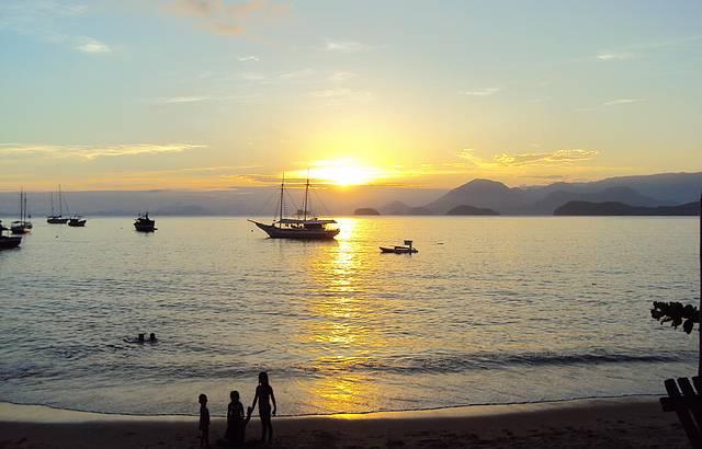 Pôr do sol em Picinguaba