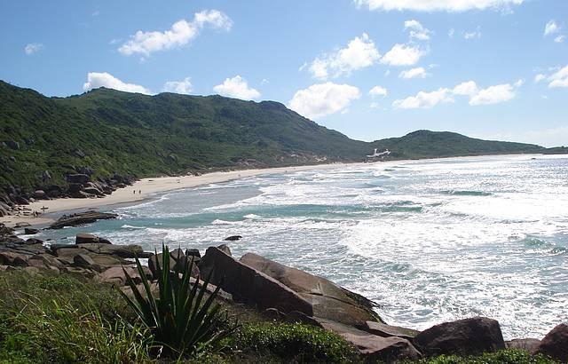 A praia mais linda de Floripa. Vale a pena conhecer!