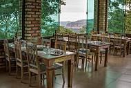 Visual perfeito também das mesas do salão