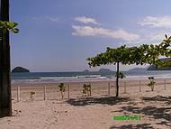 Vista de um Camping Localizado no Centro da Praia.