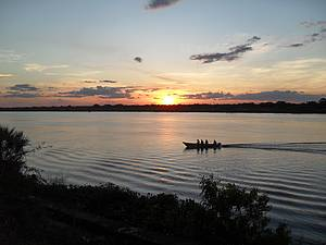 Rio Paraguai: Pôr do sol é um espetáculo a mais <br>