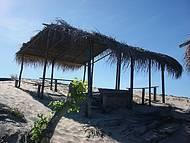 Cabana para o refugio do sol.