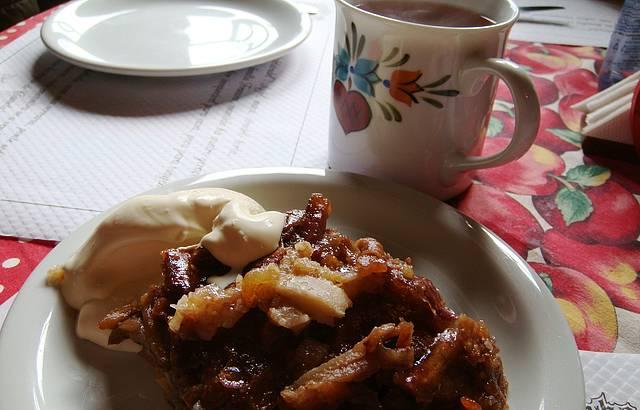 Delicioso Strudel de maçã no Castelinho do Caracol