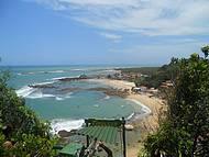 Vista da tirolesa de Morro
