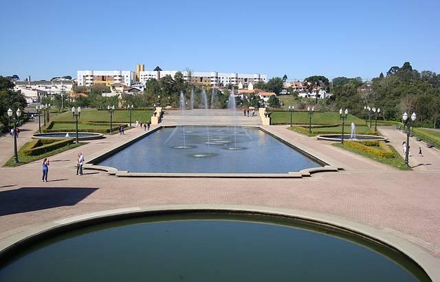Uma bela vista do parque