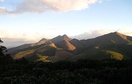Paisagem de Manhuaçu - Cafezais e montanhas de Manhuaçu na área rural