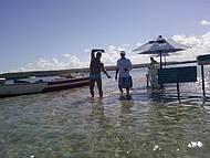 Alto mar na praia do Gunga