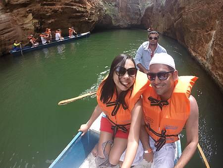 Passeio de barco ao cânion do Xingó (Rio São Francisco) - Passeio de barco pela gruta