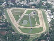 Vista aérea do Hipódromo da Gávea