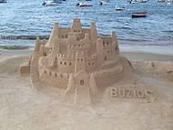 Escultura de areia.