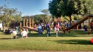 Parque reúne famílias nos dias de sol