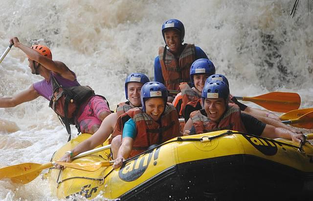 Rafting no rio Jacaré