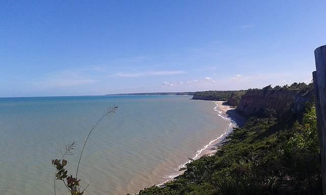 Vista da praia dos 2 irmãos