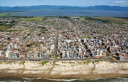 Capao da Canoa - Vista aérea da cidade