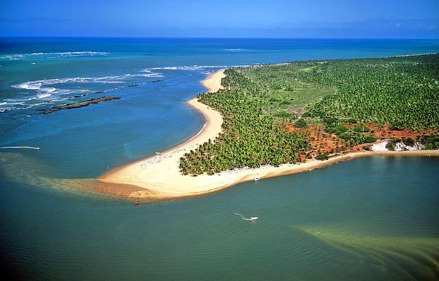 Mil coqueiros e areia branquinha emolduram o cenário