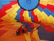 Passeio de balão pela Flat balonismo.