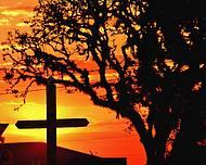 Vista da Cruz da Catedral ao por do sol em Guarapuava PR