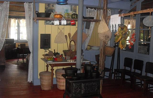 Cozinha da casa do dono do seringal