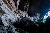 Saída da gruta é gigantesca
