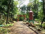 Jardim dentro do Bosque Municipal