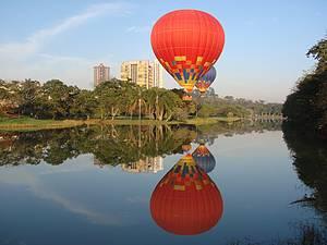 No ar: Passeio de balão é garantia de belas paisagens e muita emoção -