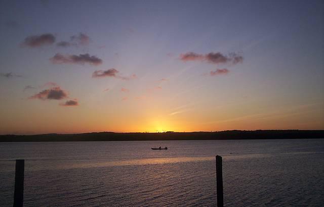 Fim do dia começo da noite na Praia do Jacaré
