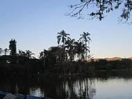 Cair da tarde no parque das águas