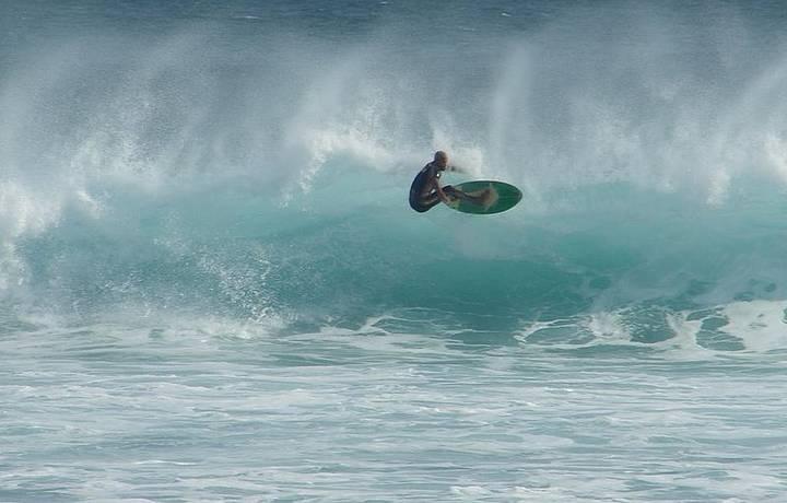 Num dia especial para surf