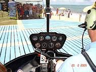 Passeio de Helicóptero sobre Taperapuã. Vale muito a pena!