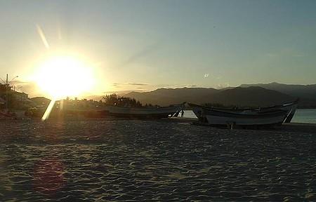 Por que ir - Praia da Pinheira - Finalzinho de tarde na Pinheira.